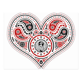 Hearts - Postcard (White/Red/Black)