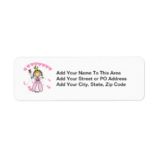Hearts Princess Return Address Label