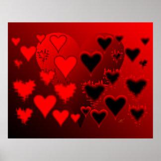 Hearts Print
