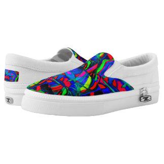 Heart's Rainbow Slip On Shoes