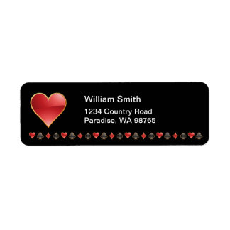 Hearts Return Address Label