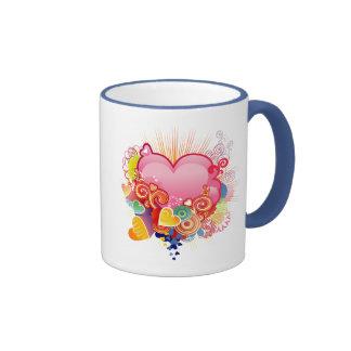 Hearts Ringer Coffee Mug