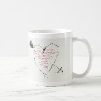 """hearts rooting"" coffee mug"