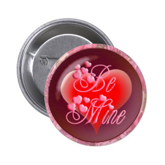HEARTS, ROSES BE MINE by SHARON SHARPE 6 Cm Round Badge