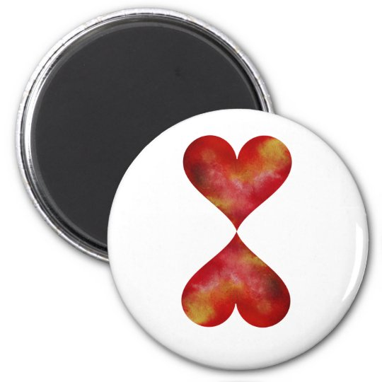 Hearts Round magnet