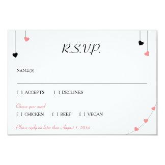 Hearts RSVP Card