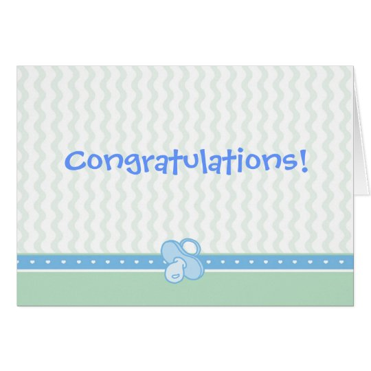 Hearts/Ruffles/Pacifier Congratulations Card