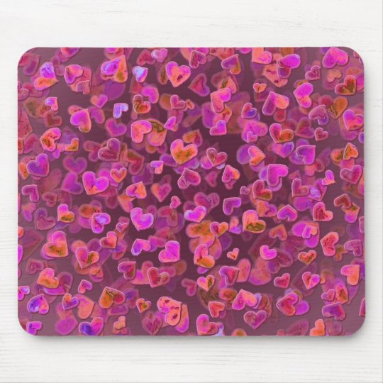 Hearts Scatter Mouse Mat