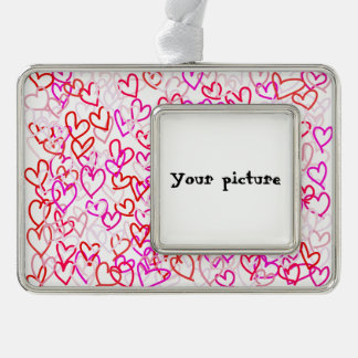 Hearts Silver Plated Framed Ornament