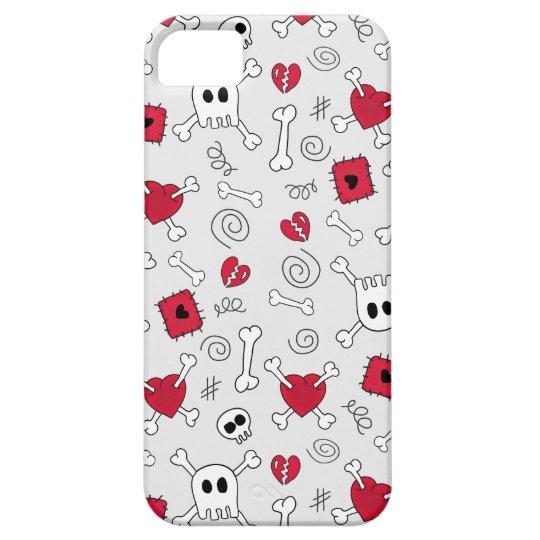Hearts Skulls And Crossbones Doodles iPhone5 Case
