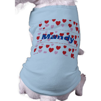 Hearts Sleeveless Dog Shirt