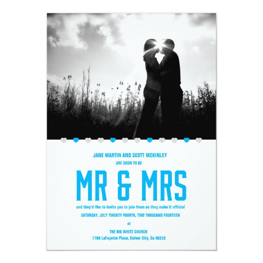Hearts Soon to Be Mr. & Mrs. - Customise Card