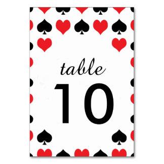 Hearts Spades Casino Table Card