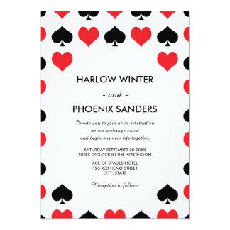 Hearts Spades Casino Wedding Invitation
