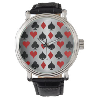 Hearts Spades Diamond Clubs Playing Card Symbols Watch