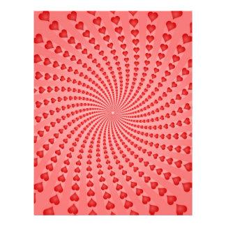 Hearts Spiral: Vector Artwork: Full Color Flyer