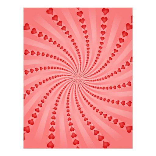 Hearts Spiral: Vector Artwork: Personalized Flyer