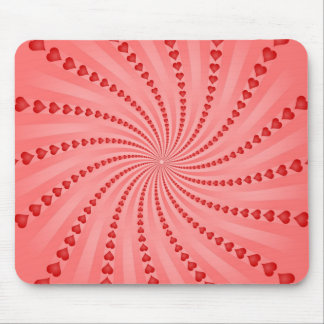 Hearts Spiral: Vector Artwork: Mouse Mat
