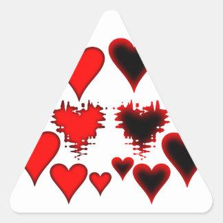Hearts Triangle Sticker
