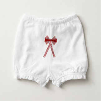 Hearts, stripes and bow nappy cover