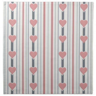 Hearts & Stripes cloth napkins