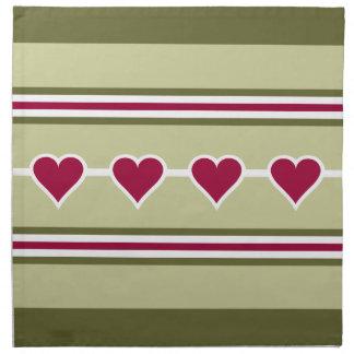 Hearts & Stripes custom cloth napkins