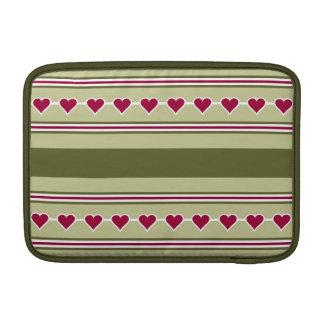 Hearts & Stripes custom iPad / laptop sleeve
