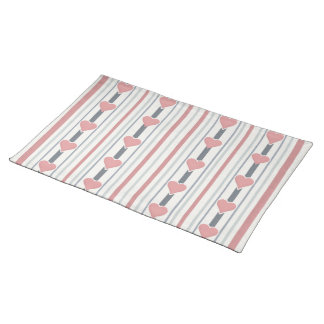 Hearts & Stripes placemat