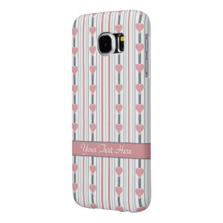 Hearts & Stripes Samsung case, customize Samsung Galaxy S6 Cases