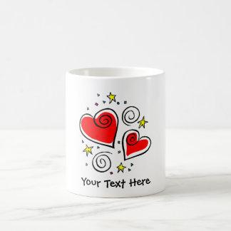 Hearts, Swirls and Stars Customizable Mugs