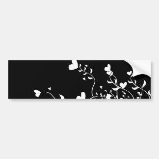 Hearts & Swirls Bumper Sticker