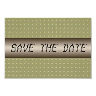 Hearts telegram Save the Date 9 Cm X 13 Cm Invitation Card