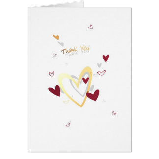 Hearts - Thank You Card