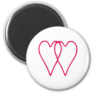 Hearts Together The MUSEUM Zazzle Gifts Fridge Magnets