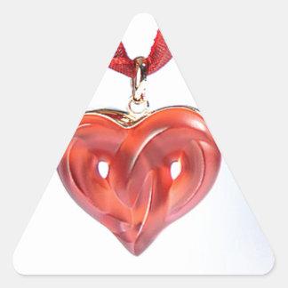 """""""Hearts"""" Triangle Sticker"""