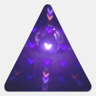Hearts! Triangle Sticker