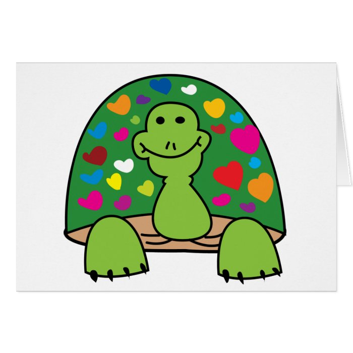 Hearts Turtle Card