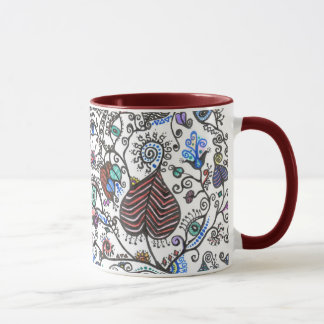 - Hearts, Vines & Eyes Mug