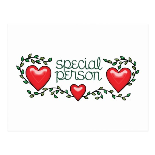 Hearts & Vines Special Person Postcard