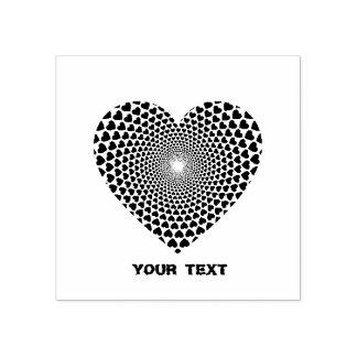 Hearts Vortex Heart Rubber Stamp