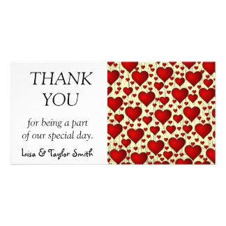 Hearts wallpaper photo card