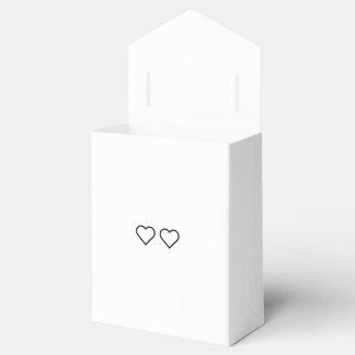 Hearts wedding favor box favour box