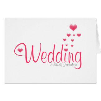 hearts wedding invitation