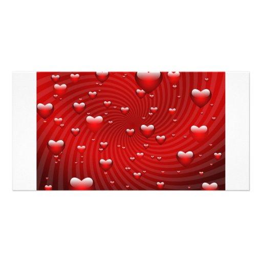 Hearts whirlpool photo card