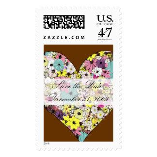 Hearts & Wild Flowers Wedding Postage