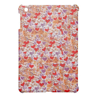 Hearts with Gold Vines Case For The iPad Mini