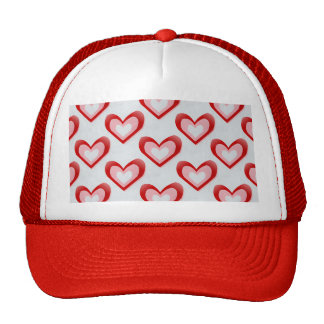 Hearts Within a Heart Pattern Mesh Hats