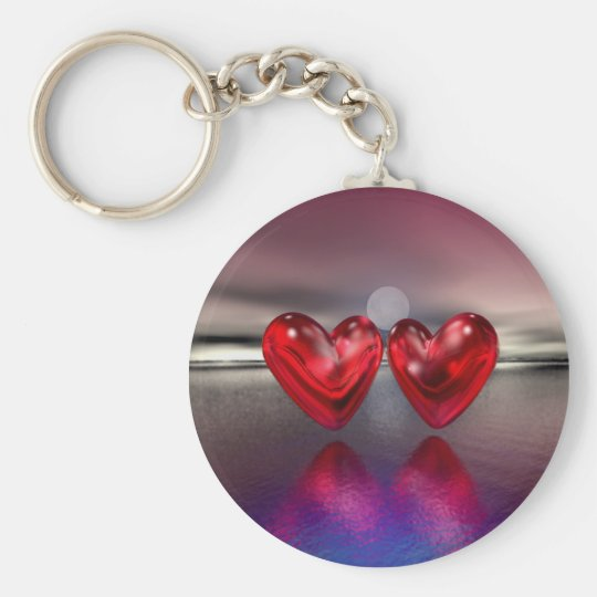 Heartscape Basic Round Button Key Ring