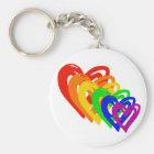 heartsrainbow key ring