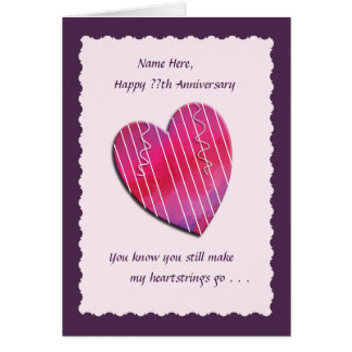 Heartstrings Any Year Wedding Anniversary Card